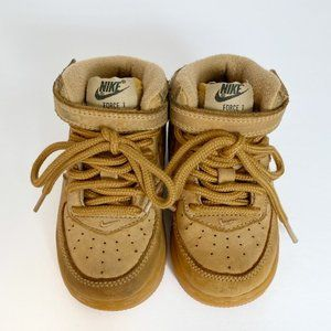 Nike Infant Air Force 1 Mid LV8 TD in Flax (wheat) 6C
